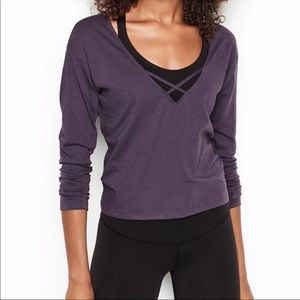 VS Sport Strappy Long Sleeve Top